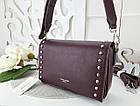 Женская сумка-клатч бордового цвета, эко кожа (под бренд), фото 2