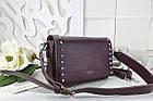 Женская сумка-клатч бордового цвета, эко кожа (под бренд), фото 3