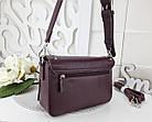 Женская сумка-клатч бордового цвета, эко кожа (под бренд), фото 4