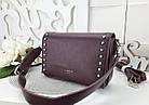 Женская сумка-клатч бордового цвета, эко кожа (под бренд), фото 5
