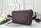 Женская сумка-клатч бордового цвета, эко кожа (под бренд), фото 6