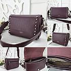 Женская сумка-клатч бордового цвета, эко кожа (под бренд), фото 7