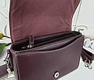 Женская сумка-клатч бордового цвета, эко кожа (под бренд), фото 9