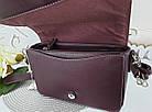 Женская сумка-клатч бордового цвета, эко кожа (под бренд), фото 10