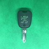 Автоключ для PEUGEOT 206 (Пежо), 2 кнопки, с чипом ID46, PCF 7961, 433 Mhz, лезвие NE73, фото 2