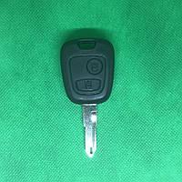 Автоключ для PEUGEOT 206 (Пежо), 2 кнопки, с чипом ID46, PCF 7961, 433 Mhz, лезвие NE73