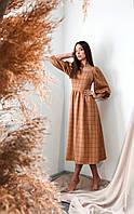 Повседневное платье в клетку, фото 1