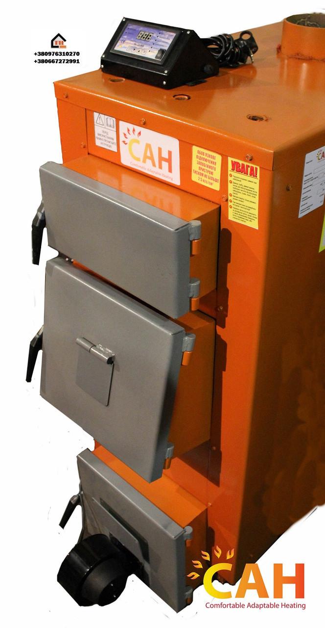 Котел длительного горения САН Эко-У-Т 17 (Усиленный сталь 4мм) с автоматикой