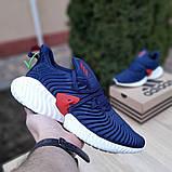 Чоловічі Кросівки Adidas Alphabounce Instinct сині з червоним, фото 6