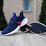 Чоловічі Кросівки Adidas Alphabounce Instinct сині з червоним, фото 4