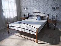 Кровать двуспальная из металла с деревом  Селена Вуд Melbi. Двоспальне металеве ліжко