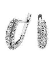 Серебряные серьги GS  с камнями