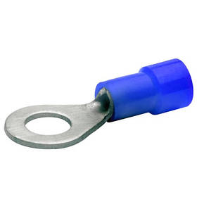 Наконечник кольцевой 1,5-2,5 мм2 болт 2.5 медный луженый с изоляцией BM00201 (уп. 100 шт.)