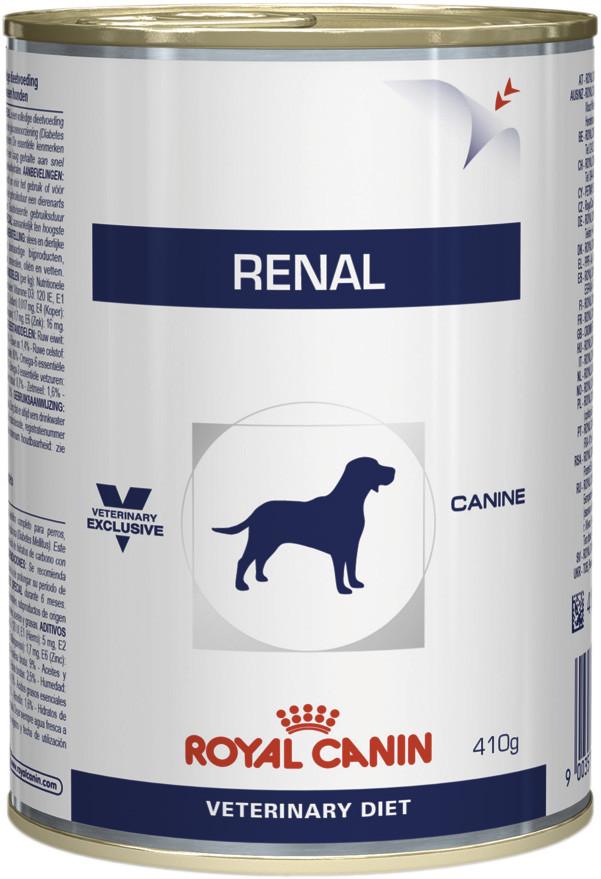 Консервированный корм для собак ROYAL CANIN RENAL CANINE WET, 12шт*410г
