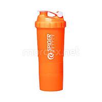 SpiderBottle, Спортивный шейкер Spider Bottle Mini2Go Neon Series Orange, 600 мл