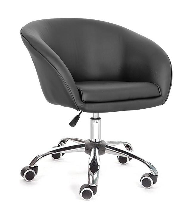 Кресло мастера Мурат черное на колесах от SDM Group, экокожа