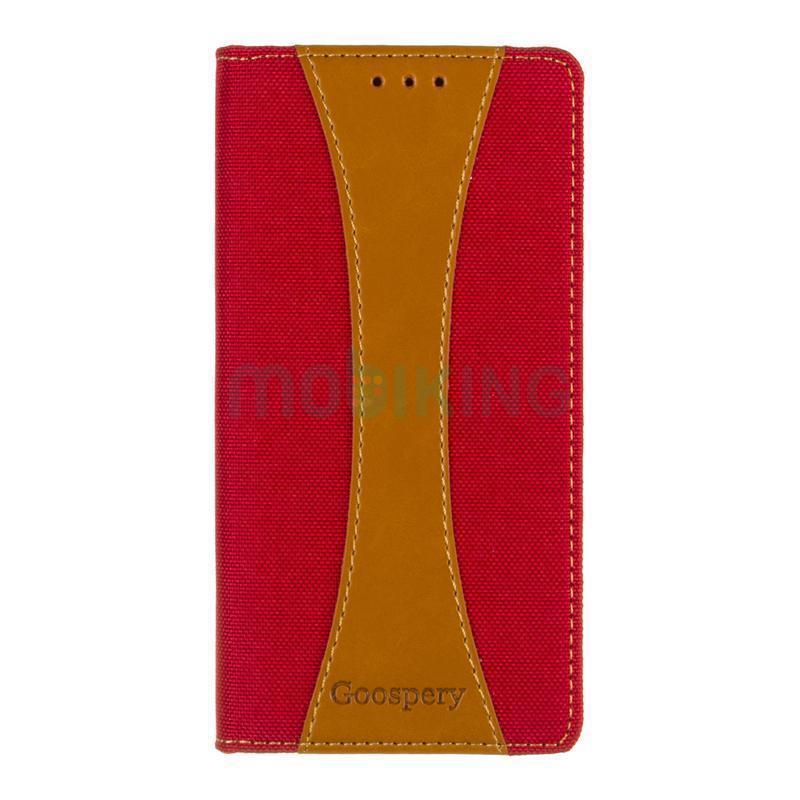 Чехол книжка для Huawei Y5 (2017) Red защитный чехол телефона, Goospery Canvas Series.