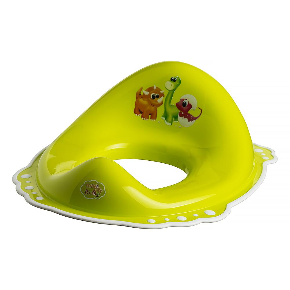 Накладка на унитаз Maltex DINO 5961 нескользящая  green with white rubbers