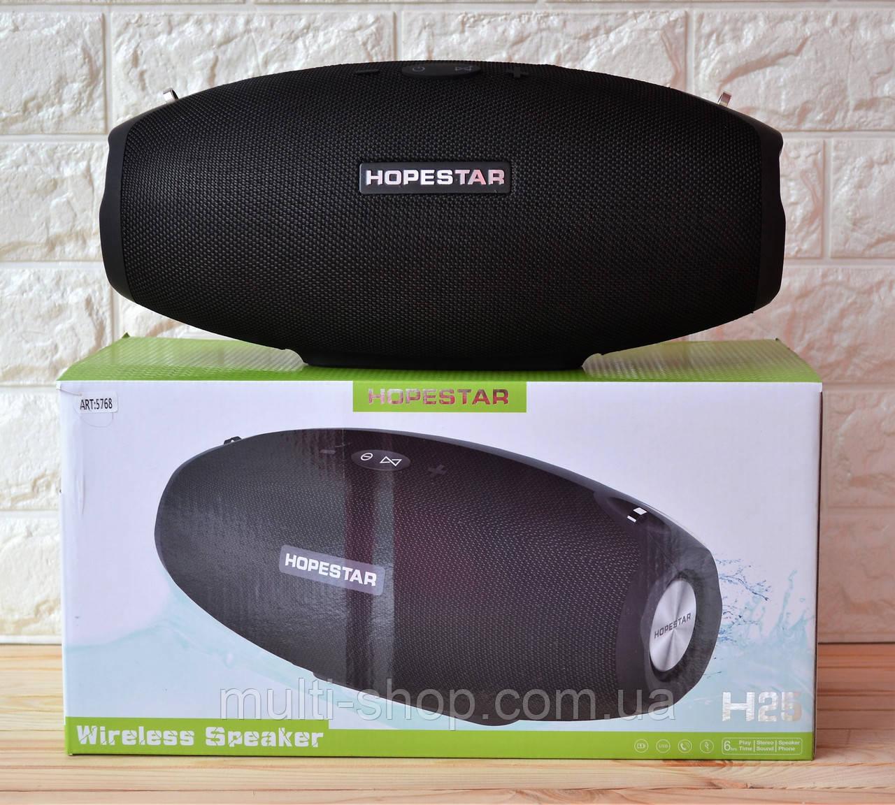 Бездротова блютуз калонка HOPESTAR H 25/ портативна акустика bluetooth 35W