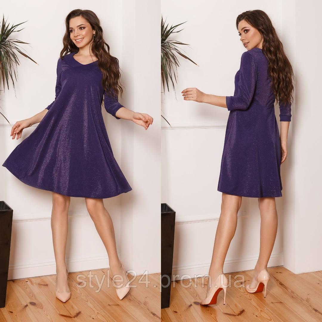 ЖІноче  люрексне плаття  , 3 кольори.Р-ри 42-58
