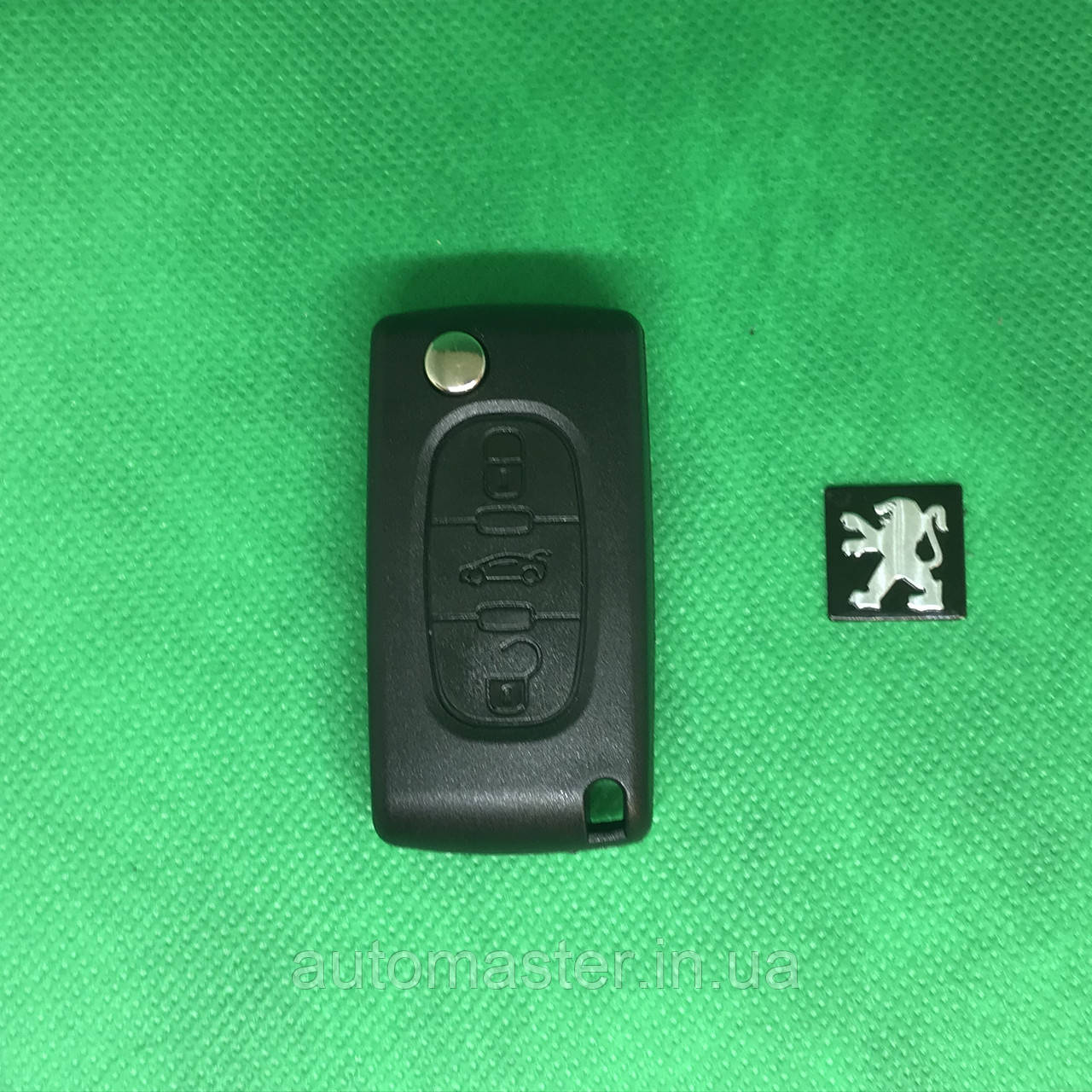 Ключ для PEUGEOT (Пежо) 407, 4007, 607  3 - кнопки с чипом ID46(7961)/433 Mhz