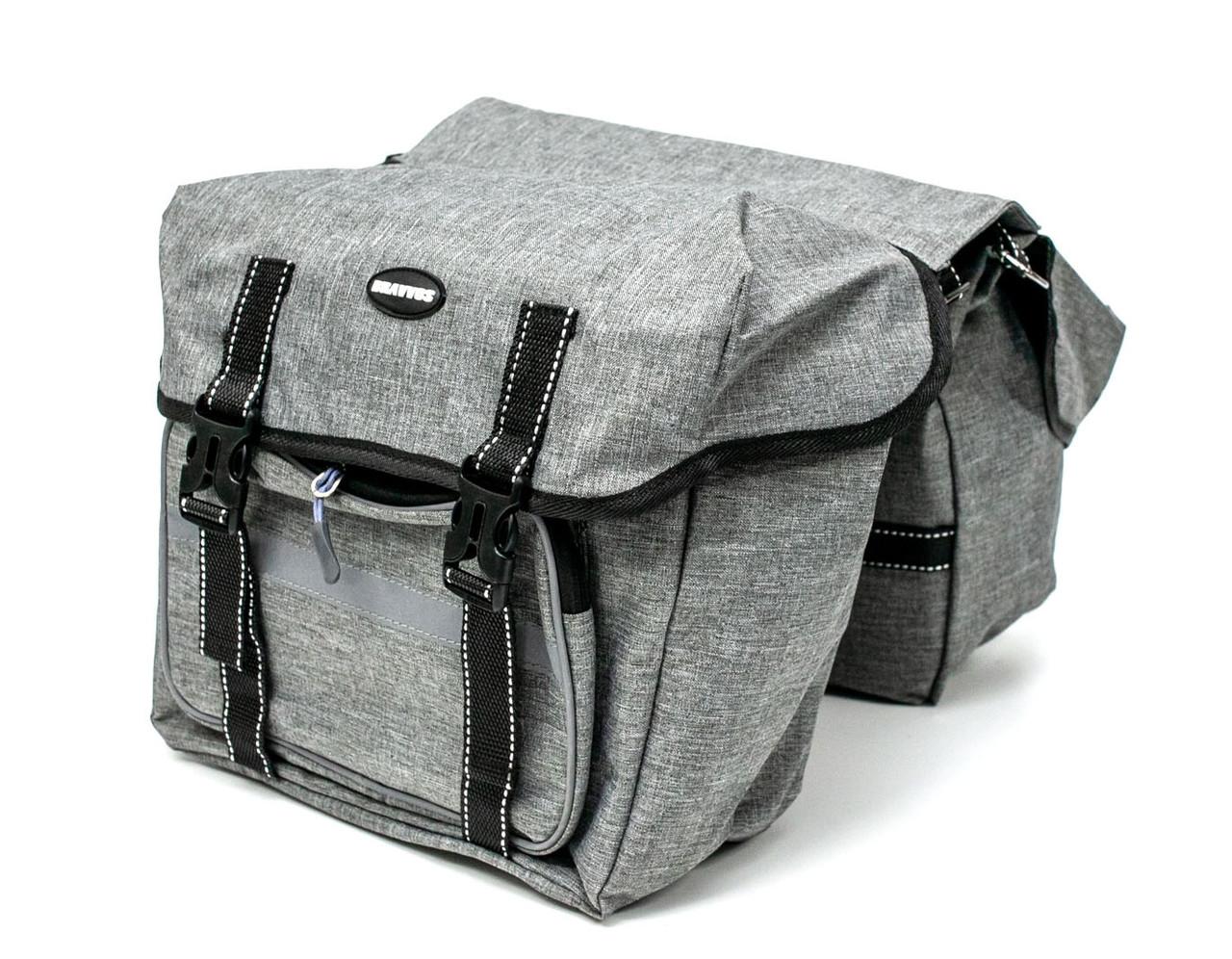 Велосумка-штаны на багажник BRAVVOS F-091-2, серая (25L)