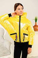 Куртка демисезонная для девочки  желтая, Новинка весны 2020 г.