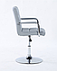 Кресло парикмахерское HOKER HC1015NP СЕРЫЙ, фото 2