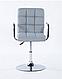 Кресло парикмахерское HOKER HC1015NP СЕРЫЙ, фото 3