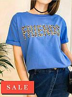 Стильная женская футболка с леопардовым принтом