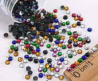 (10грамм ≈ 900-1000шт) Стразы SS10 стеклянные (2,7-2,9мм) термоклеевые Цвет - Микс