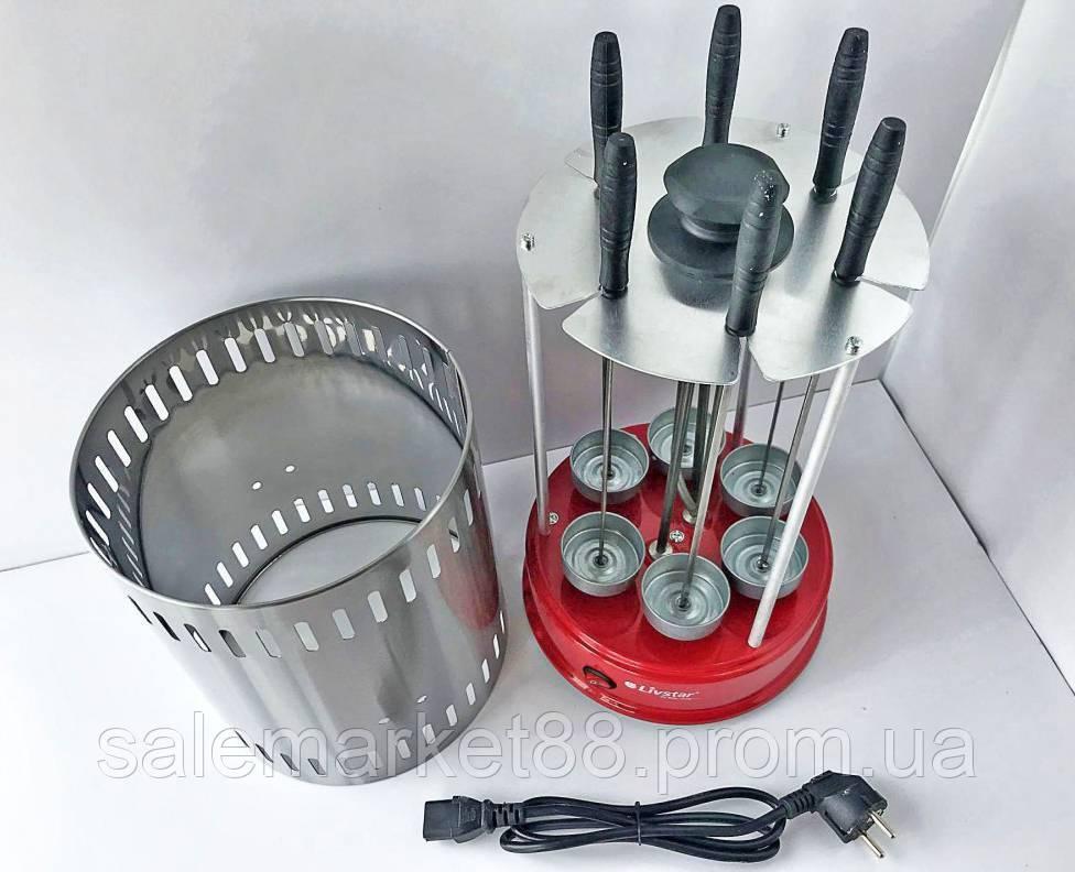 Компактная!!! Электрошашлычница Livstar LSU-1320
