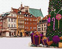 Картина по номерам BRUSHME Новогодняя Варшава