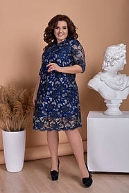Нарядное женское платье, батал  размер:  48,50,52,54
