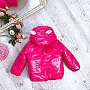 Детская демисезонная куртка для девочки Ушки на рост 80-98 см, фото 3