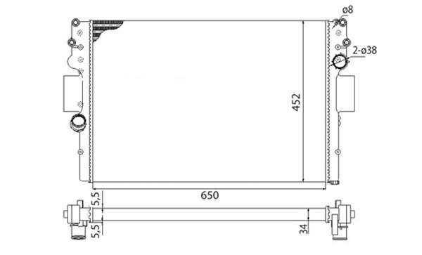 Радиатор охлаждения двигателя IVECO DAILY 2.3-3.0  (BMQ016/504084141)