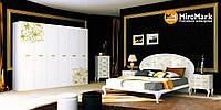 Спальня Pionia / Пиония MiroMark белый глянец-золото