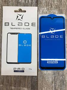 Защитное цветное стекло (2.5D) BLADE PRO Series Full Glue для Xiaomi Mi Play Черный
