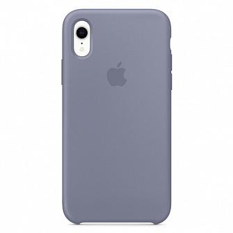 "Apple silicon case iPhone XR "" Lavander gray """