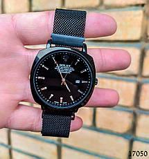 Часы мужские в стиле Rolex. Мужские наручные часы черного цвета. Часы с черным циферблатом Годинник чоловічий, фото 2