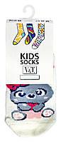 Носки для малышей Kids Socks V&T classic ШДКг 024-0484 Зайка р.8-10 Светло-молочный