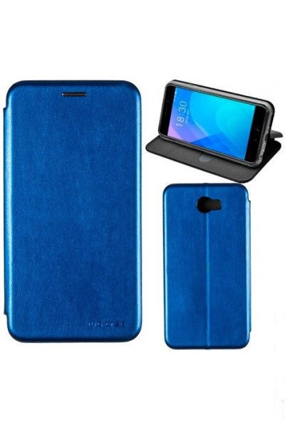 Чехол книжка на Huawei Y5 (2018) Синий кожаный защитный чехол для телефона, G-Case Ranger Series.