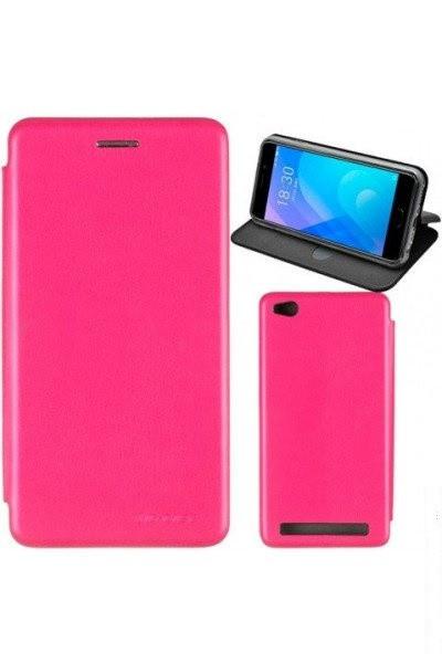 Чехол книжка на Huawei Y6 Prime (2018) Розовый кожаный защитный чехол для телефона, G-Case Ranger Series.