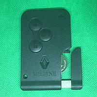 Смартключ карта RENAULT Megane II, Scenic II, Grand Scenic (Рено Меган, Сценик) 3 кнопки,433 MHZ,PCF 7947,ID46