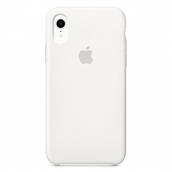 "Apple silicon case iPhone XR  ""White  """