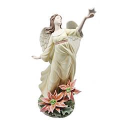 Фигурка фарфоровая «Ангел с яркой звездой», 32х20х12 см (350-3084)