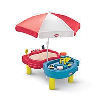 Детская песочница для дома с зоной для воды Little Tikes