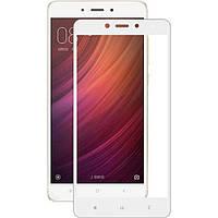 Защитное стекло для Xiaomi Redmi Note 4 Ксиоми Сяоми Ноут клеится по всей поверхности белое 2.5D