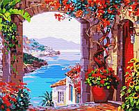 Картина по номерам BRUSHME Окно на пляж
