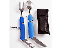 Нож складной туристический с вилкой и ложкой EDC НК-106
